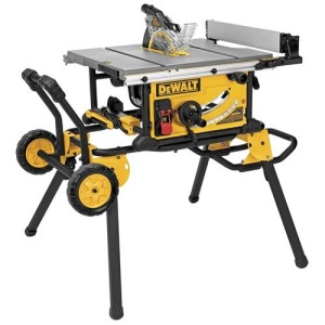 DEWALT DWE7491RS 10-Inch Jobsite Table Saw with 32-1/2-Inch Rip Capacity and Rolling Stand
