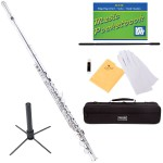 Mendini MFE-N+SD+PB Nickel Plated Closed Hole C Flute