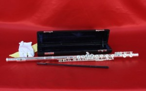 Conductor Sterling Silver Plated Flute w/ Case