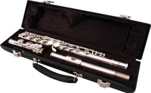 LJ Hutchen Silver C Flute with Hardshell Case