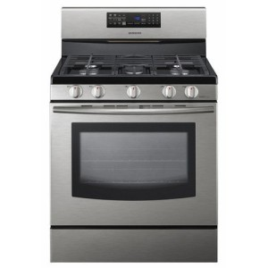 "Samsung FX510 30"" Freestanding Gas Range with 5 Burners and Convection Oven"