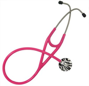 Ultrascope Stethoscope with Zebra Print Design