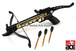 Self-cocking Crossbow Pistol