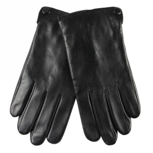 Men's Stylish Nappa Leather Plush Lined Winter Gloves