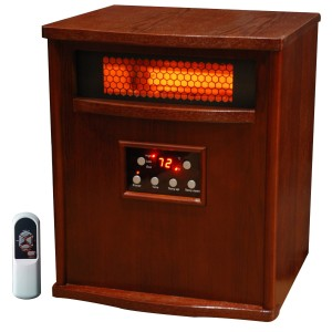 Lifesmart 6 Element Infrared Heater all Wood cabinet