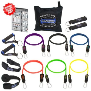 Bodylastics 14 pcs Snap Guard Resistance Bands Set