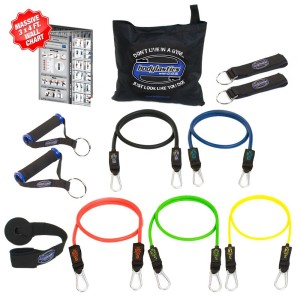 Bodylastics 12 pcs Snap Guard Resistance Bands Set