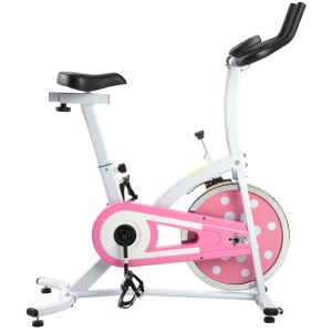 Sunny Health and Fitness Pink Indoor Cycling Bike