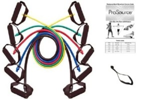 ProSource 48-Inch Premium Latex Resistance Exercise Band Set